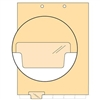 Chart Divider, Bottom Tab, Position 2, Clear, Blank, Pack/100