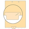Chart Divider, Bottom Tab, Position 3, Clear, Blank, Pack/100