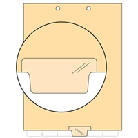 Chart Divider, Bottom Tab, Position 4, Clear, Blank, Pack/100
