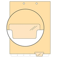 Chart Divider, Bottom Tab, Position 5, Clear, Blank, Pack/100