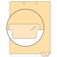 Chart Divider, Bottom Tab, Position 6, Clear, Blank, Pack/100