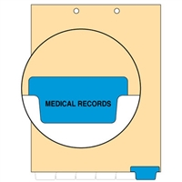Chart Divider, Bottom Tab, Position 6, Blue, Medical Records, Pack/100