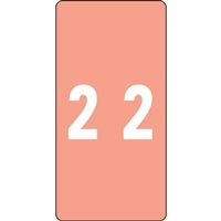 Smead LCC Match Numeric Labels #2 2W x 1H 250/Roll