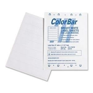Smead ColorBar Laser Labels, 8 x 1-7/16, 7-Up Sheet, 1008/Pk (02476)