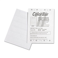 Smead 02482 ColorBar Labes 6-Up Label Sheet for Laser Printer, 1008/PK