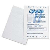 Smead 02483 ColorBar WaterGuard 7-Up Label Sheet for InkJet Printer, 1008/PK