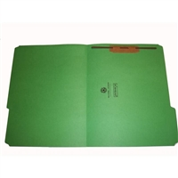 "Smead 17134-F1 Top Tab Folders, 1/3-Cut, Legal Size, 3/4"" Exp, Fastener Pos 1, 11pt Green, 50/Box"