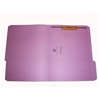 "Smead 17434-F1 Top Tab Folders, 1/3-Cut, Legal Size, 3/4"" Exp, Fastener Pos 1, 11pt Lavender, 50/Box"