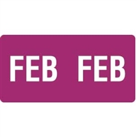 Smead ETS Month Labels, February