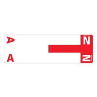 Smead Match NCC AlphaZ Color-Coded Name Labels, Letter A/N 100/Pk