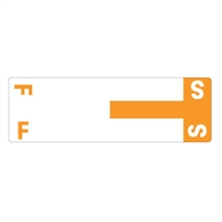 Smead Match NCC AlphaZ Color-Coded Name Labels, Letter F/S 100/Pk