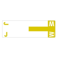 Smead Match NCC AlphaZ Color-Coded Name Labels, Letter J/W 100/Pk