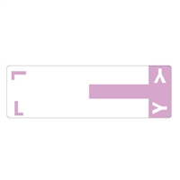 Smead Match NCC AlphaZ Color-Coded Name Labels, Letter L/Y 100/Pk