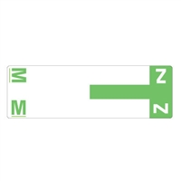 Smead Match NCC AlphaZ Color-Coded Name Labels, Letter M/Z 100/Pk
