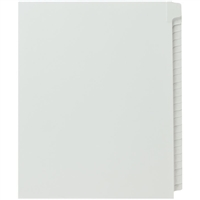 Blank Index Dividers, Letter Size, Side Tab, 25 Sheets Per Pack