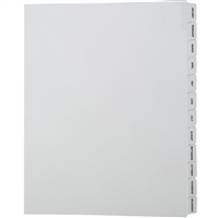 Collated Index Dividers, Avery Match, Jan-Dec Month, Letter Size, Side Tab (24 Sheets/Pack)