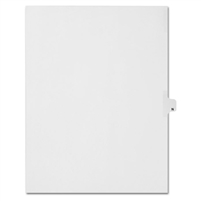 Alphabetic Index Dividers, Alpha N, Letter Size, Side Tab (25 sheets/Pk)