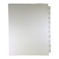 Roman Numeral Index Dividers, XI-XX, Letter Size, Side Tab, (20 Sheets/Pk)