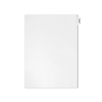 Individual Legal Exhibit Dividers, Avery Match, Alpha-A, Letter Size, Side Tab (25 Sheets/Pk)