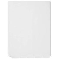 Index Dividers, Blank Bottom Tabs, 1/5 Cut, Letter, White, 25 Tabs