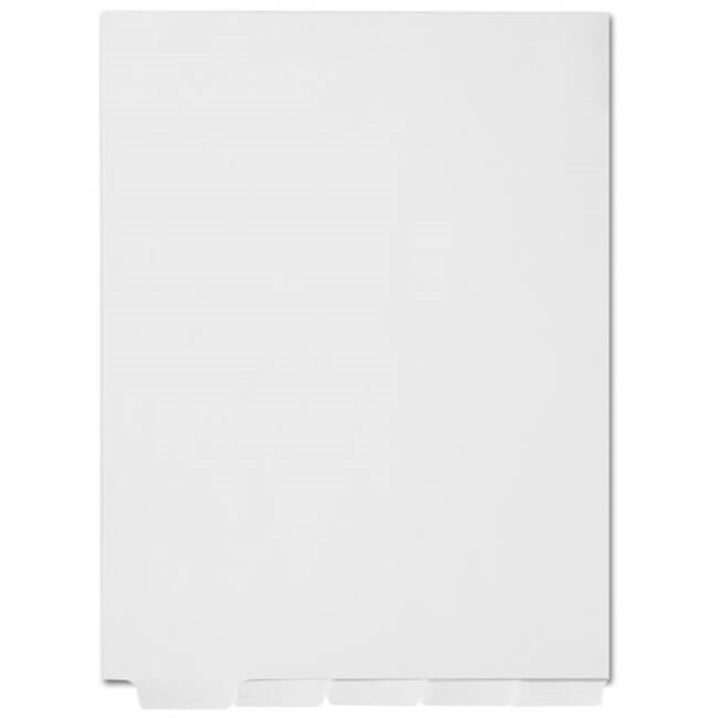 Blank Index Dividers Letter Bottom Tab 25 Sheets/Pk (SPB-BLK5)