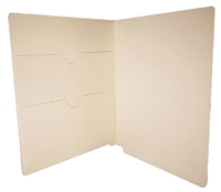 Manila Folder 11pt End Tab Left Panel Double Pocket 50/Box