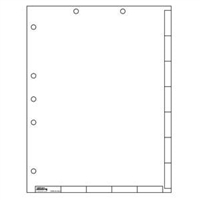Tabs-U-Create Index Divider Sheets, 8-1/2 x 11, White, 50/Pk (40200)