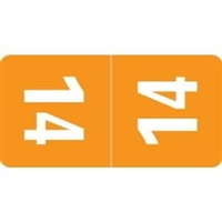 Smead Match Top Tab Year Labels, 2014, Orange, 1 x 1/2, 500/RL