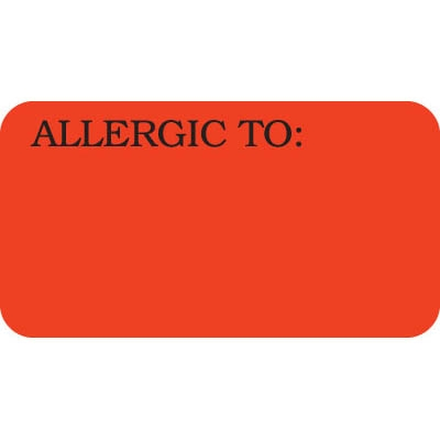 Allergic To Label UL180