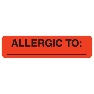 Allergic To Label UL439