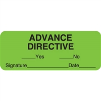 Advanced Directive Label, Green, 2-1/4 x 7/8, Roll/420