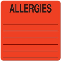 Allergies Label UL926