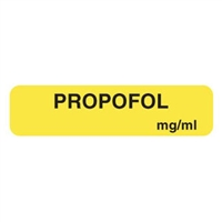 Propofol Label, 1-1/4 x 5/16, 760/Roll