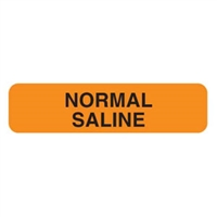 Normal Saline Label, 1-1/4 x 5/16, 760/Roll
