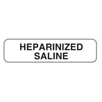 Heparinized Saline Label, 1-1/4 x 5/16, 760/Roll