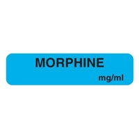 Morphine Label, 1-1/4 x 5/16, 760/Roll
