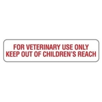 "For Veterinary Use Only, 1-5/8""W x 3/8""H, White, 500/Roll"