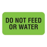 Do Not Feed Or Water Label V-AN213