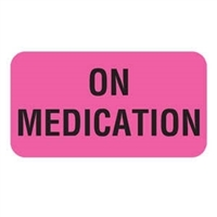 On Medication Label, 1-5/8 x 7/8, 560/RL (V-AN275)
