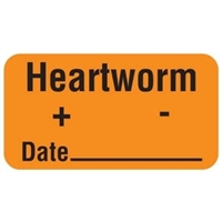 Heartworm Label, 1-5/8 x 7/8, 560/Roll (V-AN295)