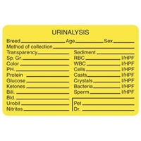 Urinalysis Label, 3 x 2, 320/RL (V-AN300)