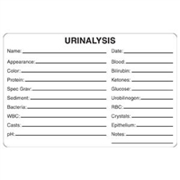 Urinalysis Label, 4 x 2-5/8, 240/RL (V-AN415)