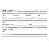 Urinalysis Label, 4 x 2-5/8, 240/Roll (V-AN436)