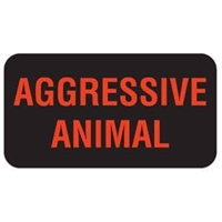 Aggressive Animal Label, 1-5/8 W x 7/8, 560/RL (V-AN486)