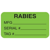 Rabies Label, 1-5/8 x 7/8, 560/RL (V-AN601)