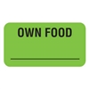 Own Food Label, 1-5/8 x 7/8, 560/RL (V-AN620)