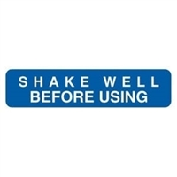 Shake Well Before Using, 1-5/8 x 3/8, 500/RL (V-FP110)