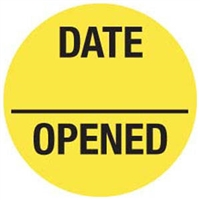 Date Opened Label, 3/4-Inch Diameter, 570/RL (V-FP703)