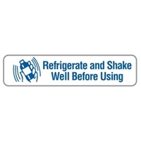 Refrigerate & Shake Well Before Using, 1-5/8 x 3/8, 500/RL (V-FP704)