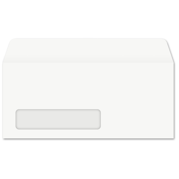 #10 Side Seam Window Envelopes (4-1/8 x 9-1/2) 24lb White, Kwik-Tak 500/BX